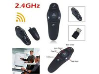2.4GHz Wireless Presenter Laser Pointer USB Mouse Remote Control + Receiver