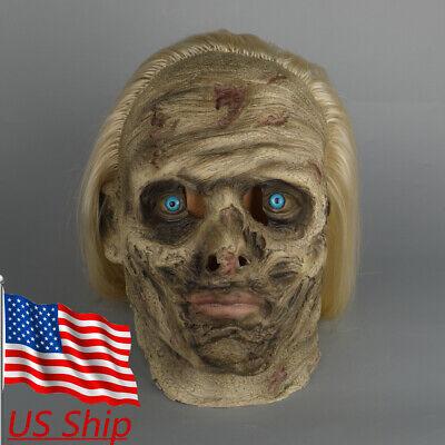 The Walking Dead Whisperer Alpha Mask Dead Walkers Zombie Mask Halloween Props - Halloween The Walking Dead