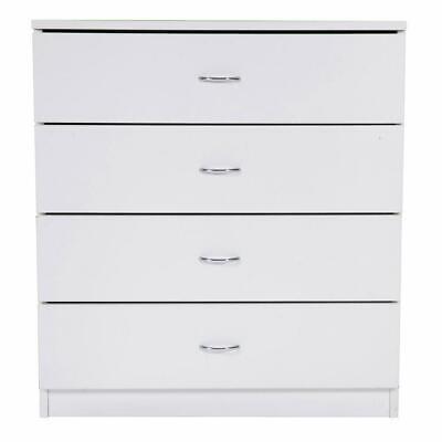 new Modern Dresser Wood Simple 4-Drawer Dresser Bedroom Furniture Storage White