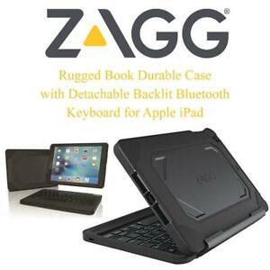 ZAGG Rugged Book Durable Case with Detachable Backlit Bluetooth Keyboard for Apple iPad Pro 9.7(not Made for 2017 5th...