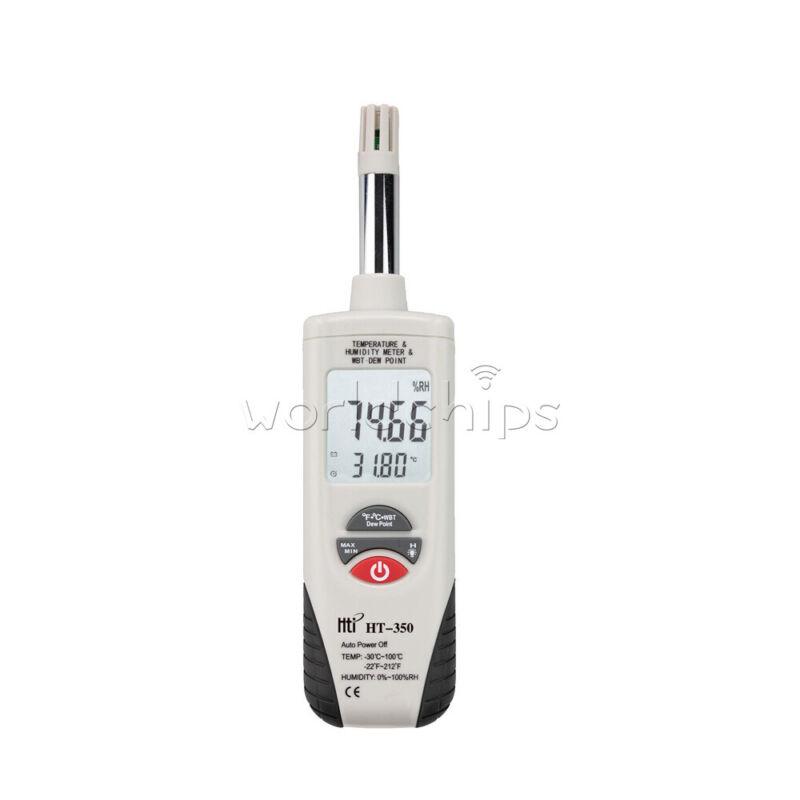 HT-350 Digital Humidity Temperature Meter Mini Hygro Thermometer Tester Tool