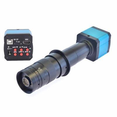 14mp Tv Hdmi Usb Industry Digital C-mount Microscope Camera Tf Card 180x Lens