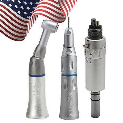 Dental Low Speed Handpiece Kit 4 Hole Push E-type Air Motor Cartridge Fit Nsk