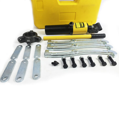 Heavy Duty Hydraulic Bearing Puller : Ton heavy duty hydraulic bearing garage gear puller set