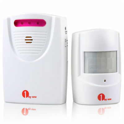 1byone Wireless Driveway Alert Alarm System Infrared Motion Sensor Security