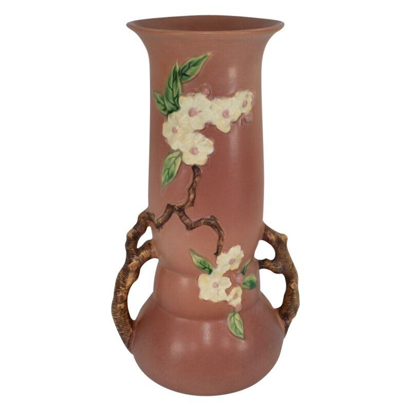 Roseville Pottery Apple Blossom Pink Vase 392-15