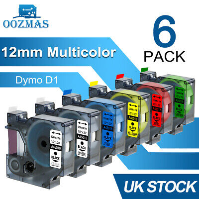 Dymo D1 Label Tape 45013 Black on White 12mm for Dymo Label Manager 160 280 420P