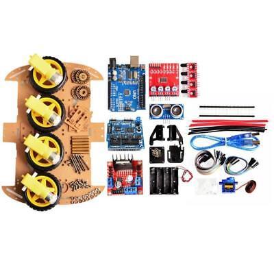 Avoid Tracking Motor Smart Robot Car Chassis Diy Kit 4wd Ultrasonic For Arduino