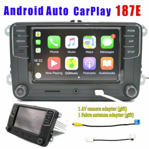 Autoradio RCD330,187E,BT,Carplay,Android Auto,MirrorLink,USB,RVC For VWGOLF POLO