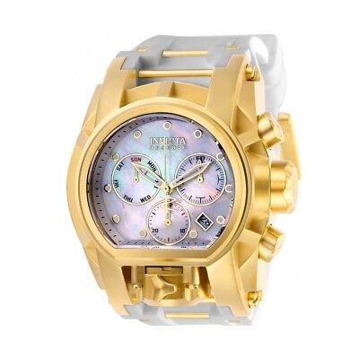 Invicta Reserve White/Gold Band Mother of Pearl Dial Quartz Men's Watch 26714