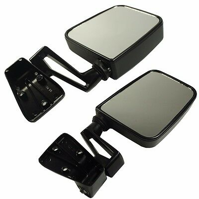 Black Manual Side View Door Mirrors Left Right Pair Set for 87-02 Jeep Wrangler ()