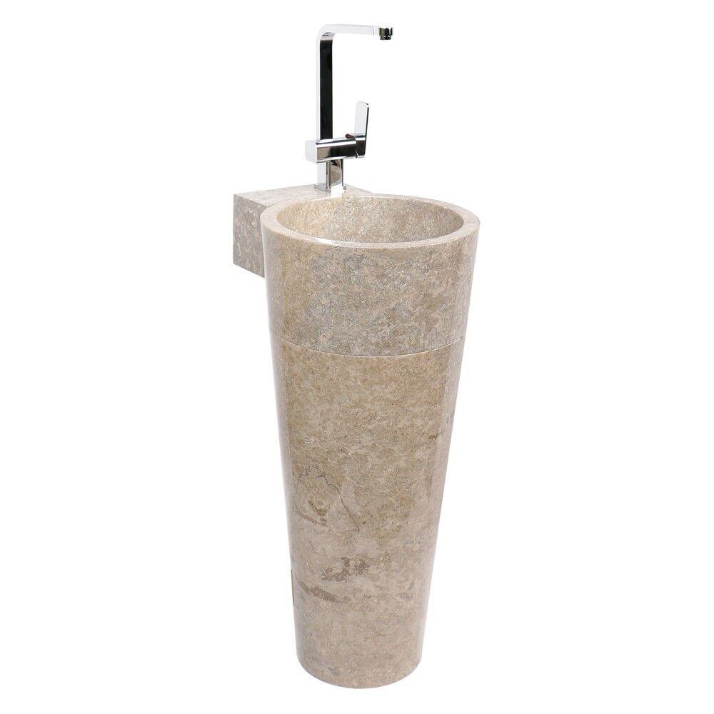 Waschtisch-Säule Standwaschbecken aus Naturstein Marmor