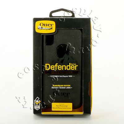 OtterBox Defender Hard Case Cover w/Belt Clip For iPhone Xs Max (Black) New