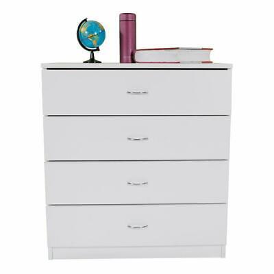 Modern Dresser Wood Simple 4-Drawer Dresser Bedroom Furniture Storage White