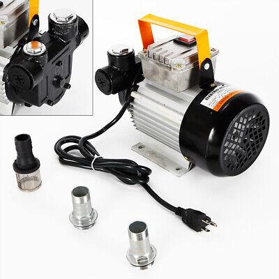 110v Electric Oil Pump Transfer Diesel Fuel Kerosene Induction Motor 550w 60lm