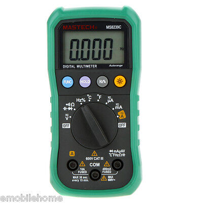 Mastech Ms8239c Volt Current Resistance Frequency Temp Capacitance Tester