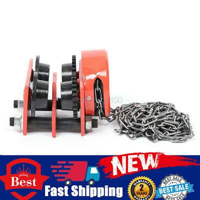 Hoist Winch Crane Lift 1t Push I Beam Gear Trolley Adjustable Rigging Euipment