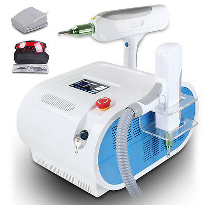 Q-switch Nd Yag Laser Tattoo Eyebrow Freckle Removal Cooling Machine 1000mj Spa