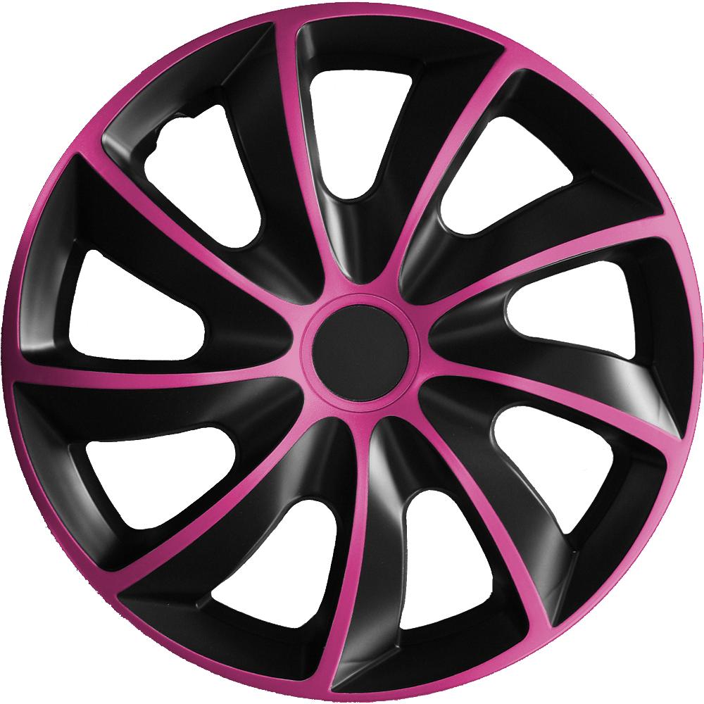 2 Stück Radblenden Radkappen Le Mans pink black schwarz 13 Zoll Radzierblende