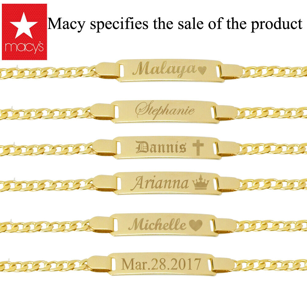 Baby bracelet 14k personalized baby girl bracelet Name plate Bracelet for boy