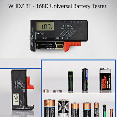Digital LCD Battery Tester Volt Checker For 9V 1.5V AA AAA Cell BT-168D Easy  bf