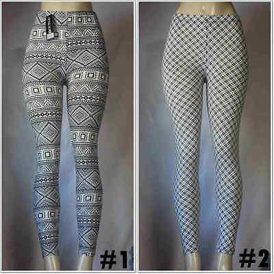 (Fashion Diagram Spot Printed Leggings Women's Stretch S-XL Size Skinny Pants )