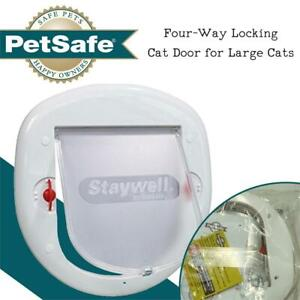 NEW PetSafe Four-Way Locking Cat Door for Large Cats Condtion: New