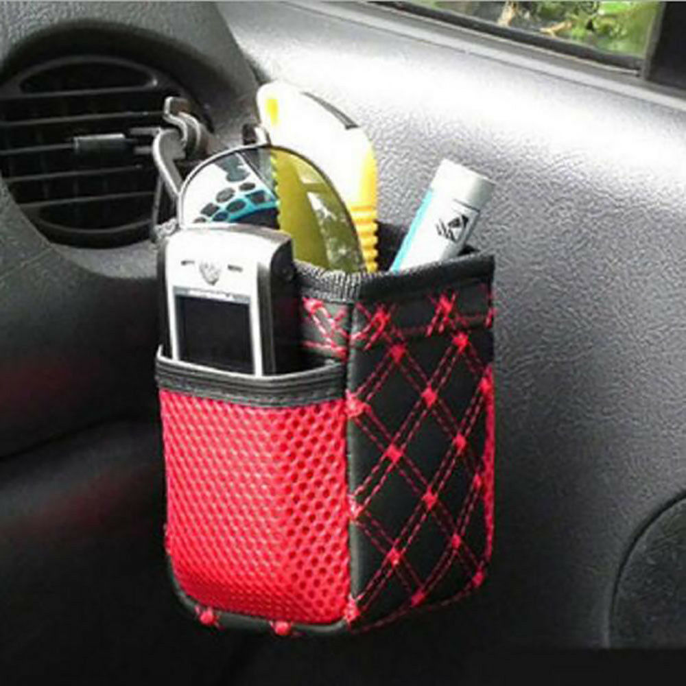 Car Air Vent Outlet Pocket Organizer Auto Storage Stowing Tidying Carriage Bag