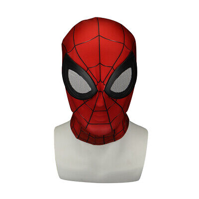 Red Hood Mask (Cosplay SpiderMan Far From Home Peter Parker Mask Adult Halloween Red Hood)