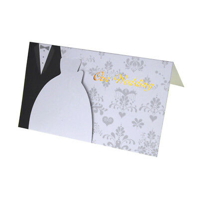 - Our Wedding Damask Invitations, White/Black, 6-3/4-Inch, 10-Count
