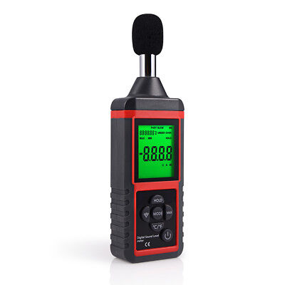 Lcd Digital Sound Level Meter Noise Detect Tester Data Decibel Logging 30-130db