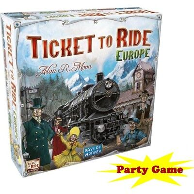 Ticket to Ride -Europe-Train Adventure Board Game Party Home Game Gift Free Ship - Party Tickets