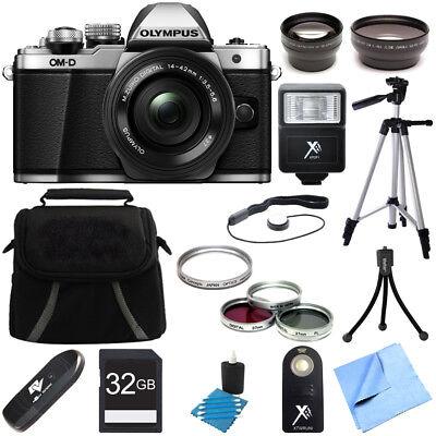 Olympus OM-D E-M10 Mark II Mirrorless Digital Camera w/ 14-42mm EZ Lens Bundle
