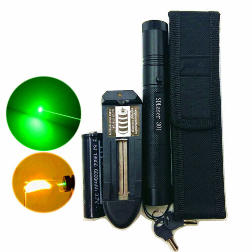 50 Miles 5MW 532NM Laser Pointers Lazer Pen Beam Burn Zoom 18650 Battery Charger