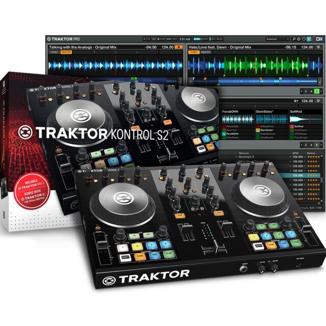 Native Instruments Traktor Kontrol S2 Mk2 USB MIDI DJ Controller + Software
