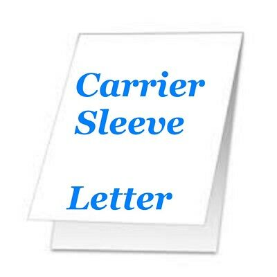 Carrier Sleeve For Laminating Laminator Pouches 2 Pk Letter Size Coated