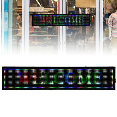 I 40x 8 7 Colors Outdoor Led Sign Programmable Scrolling Message Board Durable