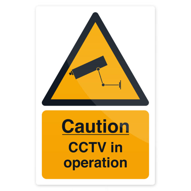Rigid Sign CCTV In Operation 200x300mm  Signage Safety Signs