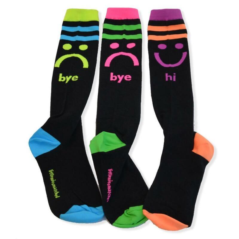 LittleMissMatched Hi/Bye knee High Socks Black Knee High Socks  - 3 Socks