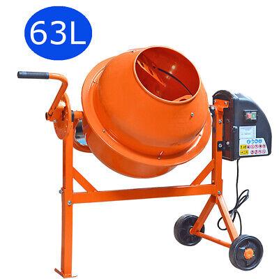 Panana Portable Electric Cement Concrete Mixer – Mortar Plaster Drum 220W 63L