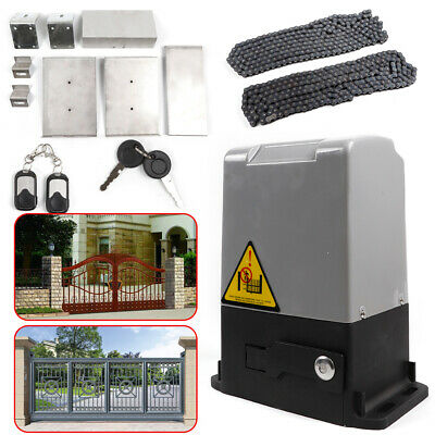 Sliding Electric Gate Opener 1500KG Auto Motor Driveway Security Remote+Chain