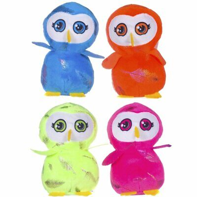 Bright Colourful 13cm Owl Cuddly Soft Toy - Gift Idea Party Bag Filler Girl Boy](Owl Party Ideas)