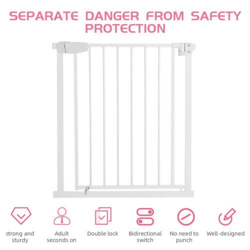 Baby Safety Gate Door Pet Dog Cat Fence Walk Thru Child Toddler Security