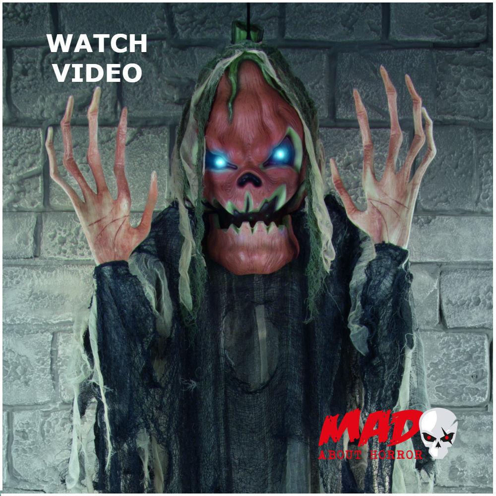 LARGE Animated Pumpkin Man - Halloween Horror Decoration Prop ...