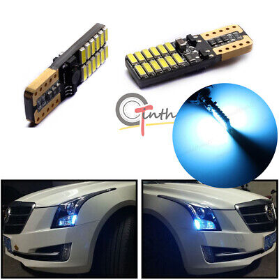 CAN-bus Ice Blue 24-SMD LED Front Sidemarker Light Bulbs For 13-19 Cadillac ATS 13 Smd Led