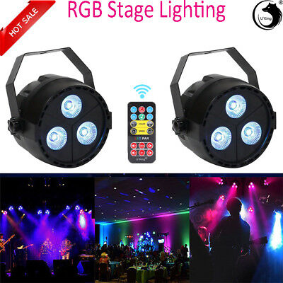2PCS RGBP Bühnenlicht LED Par DMX 512 Disco DJ Bar Party Wedding Light + Remote - Par Pc
