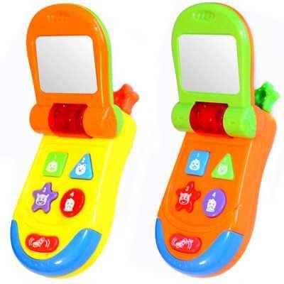 Baby Kinder Spielzeugtelefon Kindertelefon Handy Spieltelefon Licht Geräusch Neu