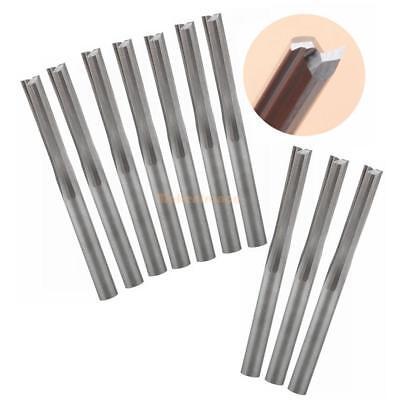 Double Flute Straight Router (10pcs Double Flute Straight Slot Carbide Cutters CNC Router Bits 3.175 * 17mm)