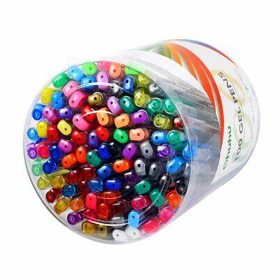 100 Gel Pen Set Adult Coloring Books Best Neon Pastel Metallic Glitter Art
