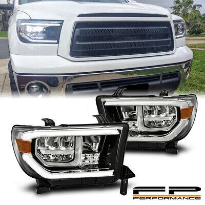 For 07-13 Toyota Tundra / Sequoia Glossy Black TRD Design Full LED Headlights